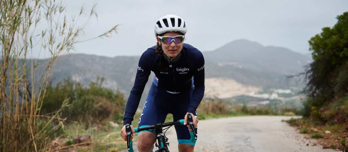 Elise Chabbey (SUI) at the Bigla-Katusha Team Camp in Valencia, Spain on February 18, 2020. Photo by Sean Robinson/velofocus.com