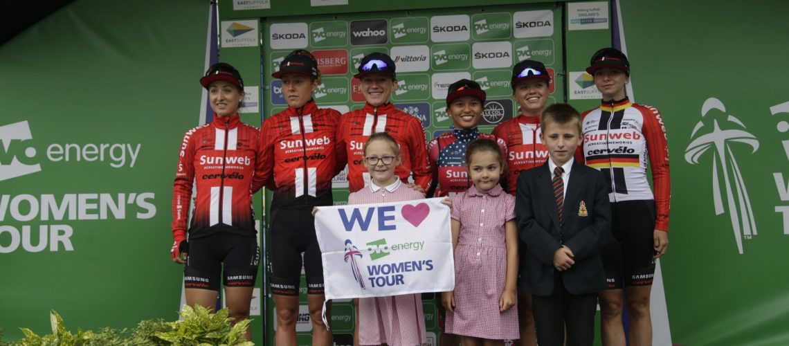 Stowmarket  - England - wielrennen - cycling - radsport - cyclisme - Team Sunweb pictured during  Women's Tour of Great Britain stage- 1 from Beccles to Stowmarket  -  photo Anton Vos/Cor Vos © 2019